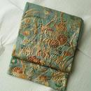 【ふくろ帯】植物柄西陣まいづるいわれ帯ふくれ織袋帯