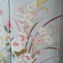 【袷】月白(げっぱく)系 四季花文の附下げ