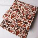 【なごや帯】鳳凰と花唐草文インドネシア(ジャワ)更紗なごや帯