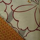 【袷】ミルキーホワイト地 花柄 小紋