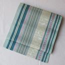 【なごや帯】矢鱈縞にねこ柄 博多織八寸なごや帯