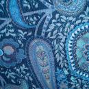 【袷】紺瑠璃色 ペイズリー柄 小紋 トールサイズ