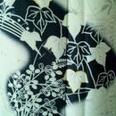 【袷】モノトーン調 藤と蔦と秋草の訪問着