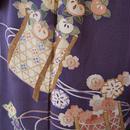 【袷】アンティーク花籠に橘と桜柄お出かけ着