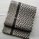 【ふくろ帯】鱗と小石と線の洒落袋帯