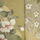 【単衣】春爛漫 植物柄 小紋