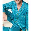 メンズパジャマ 長袖 コットン BedHead Pajamas ベッドヘッドパジャマズ Peacock Queen Bee