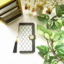 【pajour 】グレージュ モロッカン 柄 手帳型 スマホケース【iPhone】【手帳】【モロッカン】【秋冬】
