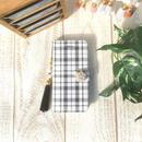 【pajour 】グレンチェック 柄 手帳型 スマホケース【iPhone】【手帳】【グレンチェック】【春】