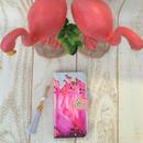 【pajour 】 青空 フラミンゴ 柄 手帳型 スマホケース【iPhone】【手帳】【フラミンゴ】