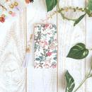 アイボリー ローズ 柄 手帳型 スマホケース【iPhone】【手帳】【薔薇】【pajour 】【パジュール】