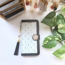 【pajour 】バイカラー アンカー 柄 手帳型 スマホケース【iPhone】【手帳】【モロッカン】