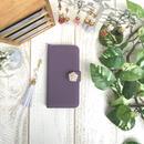 pajour× モープ ベロア 手帳型 スマホケース (ソフトレザー) ( iPhone)