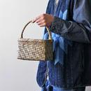 表皮 網代編み 小さ目ワンハンドル 胡桃のかごバッグ  (クルミ/沢くるみ/籠)  オズのかごバッグ