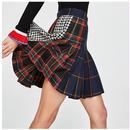 人気 チェック スカート プリーツスカート ドッキングスカート XS S