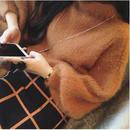 rétro shaggy knit