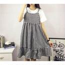 Gingham check sleeveless Dress