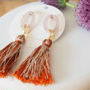 orange mix tassel piarces