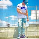 【人気】BoxロゴTシャツ【ホワイト×ブラック・ブルー・レッド】
