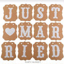 【Party Market】ガーランド/JUST♥MARRIED