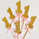 【PARTY MARKET】1st birthday gold picks (S) ファーストバースデーゴールドピック10本