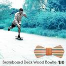 Patriqo Skateboard Deck Wood Bowtie スケートボードデッキ木製蝶ネクタイ(ブローチ)