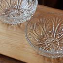 昭和レトロ・プレスガラスの小鉢(flower)