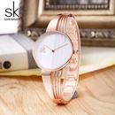Shengke ファッション 金メッキ女性腕時計 チャームレディース腕時計 ブレスレットクォーツ時計 194