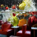 3D フルーツ大壁画 カフェ ジュース ドリンクショップ レストラン リビングルーム背景 518 7/17