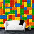 3D 壁画壁紙 リビングルーム レゴ風レンガ 子供の寝室 玩具店 不織布壁画壁紙 7/17 498