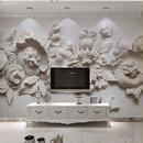 カスタム写真壁紙 ヨーロッパスタイル 3D 立体花壁壁画紙 リビングルーム ベッドルーム ベッドサイド壁画 7/17 504