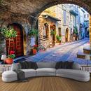 不織布壁紙 カスタムフォトウォールペーパー壁画 3D イタリアタウンストリートビューヨーロッパ風景壁 7/17 496