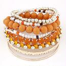 Lemoer デザイナーボヘミアンキャンディーカラー 多層ビーズブレスレット 腕輪 ジュエリー 女性 ギフト 219