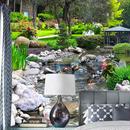 3D 公園 グリーン植物 小川 自然風景壁絵画 リビングルーム 寝室 背景 壁画 壁紙 509 7/17