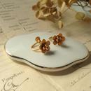 japan vintage flowerイヤリング