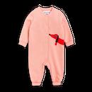 【 mini rodini 2017AW】DOG SP ONESIE / 68/74cm / Pink