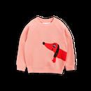 【 mini rodini 2017AW】DOG SP SWEATSHIRT / Pink