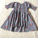 【 folk made 2018SS】No.1 whale print dress / シャドウブルー  / L(125-140cm)