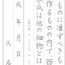 ★ダウンロード販売★[¥100]ペン字【楷書】~『くだもの』正岡子規~より