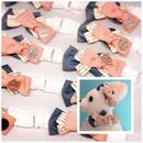 トリプルリボン🎀デニムストレッチチョーカー〈ピンク〉25cm×10本