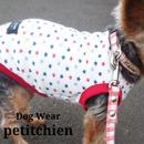 犬服 【   トリコカラー 星柄  】レッド 胴まわり30~38cm