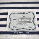 犬服★【natural~navy】胴回り30~38cm