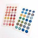 ボタンシール(赤ボタンのシート・青ボタンのシート)各
