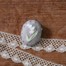 poritorie  リボン刺しゅうのハナコトバブローチ  Lily of Valley