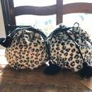iiwi leopard 巾着 tassel付き