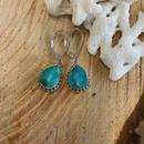 Turquoise Drop  pierce 10