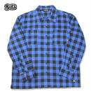BLUCO(ブルコ)OL-048-018 BUFFALO CHECK SHIRTS ブルー