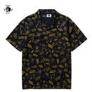 PAWN(パーン)NOMADS PATTERN S/S SHIRT ネイビー