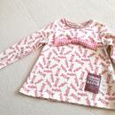 【子供服120】長袖ribbon-T*ピンクのラメキャンディ*