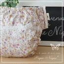 手作り布おむつカバー**Lace Ribbon*White×Pink【パンツタイプLサイズ】